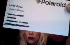 Lady GaGa Shows off her new business card to all her Twitter Fan.